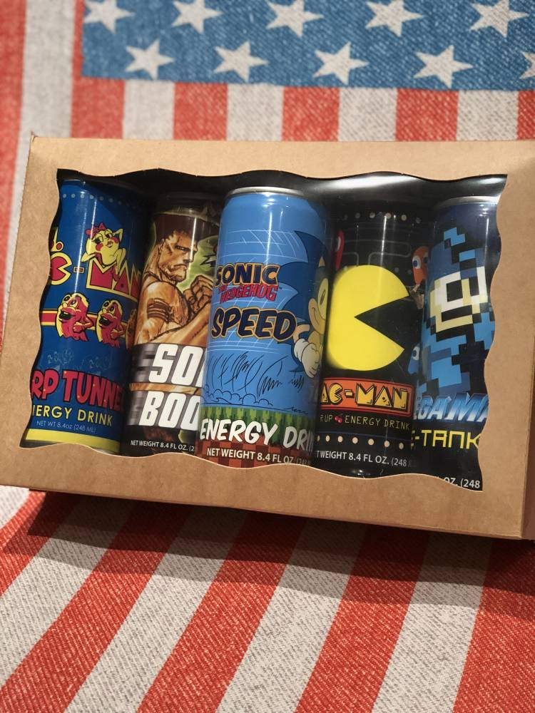 Video Game Themed Soda Gift Box From Auntie Ammies Candy Shop
