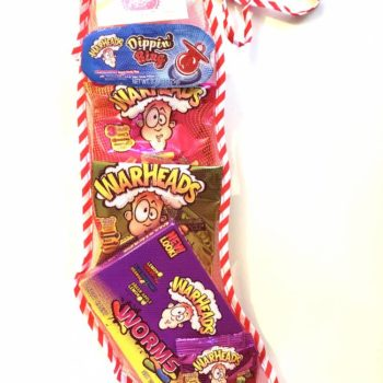Warheads Sour Selection Christmas Stocking From Auntie Ammies Candy Shop