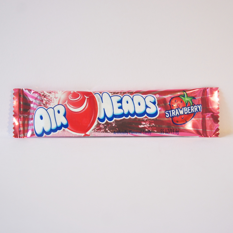 strawberry airhead chew bar American sweets from Auntie Ammie's Candy Shop