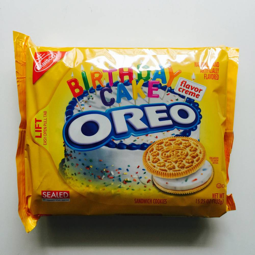 Golden Oreo Birthday Cake Flavour Creme