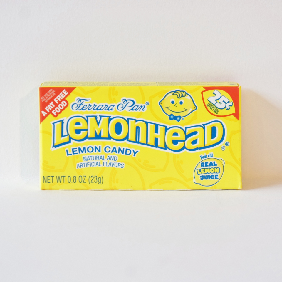 lemonhead hard candy American sweets from Auntie Ammie's Candy Shop